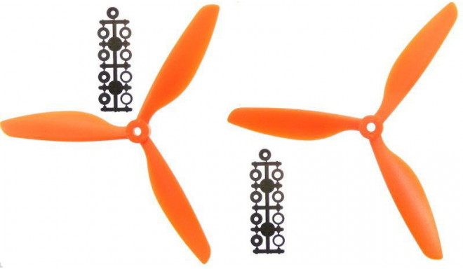 2 propellers set (3-blade) (CW+CCW) 9x4.5 – orange