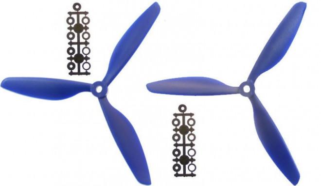 2 propellers set (3-blade) (CW+CCW) 9x4.5 – blue