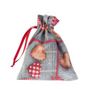 Подарочный пакет LOVE & LOVE 13x16cм, 50%хлопок / 50%полиэстер, ткань-177