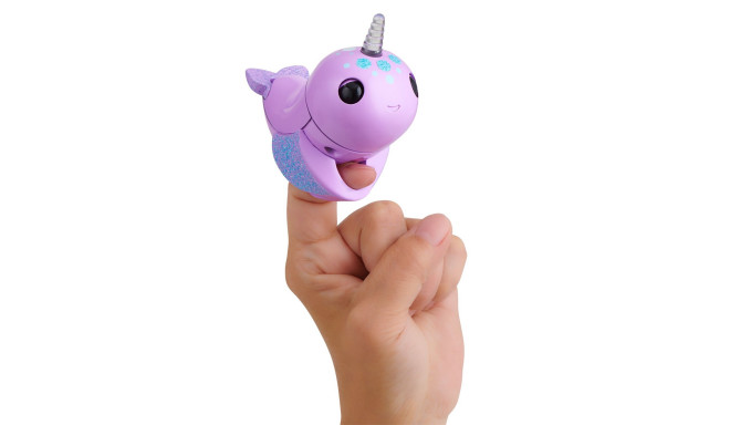 FINGERLINGS electronic toy narwhal Nelly, purple, 3696