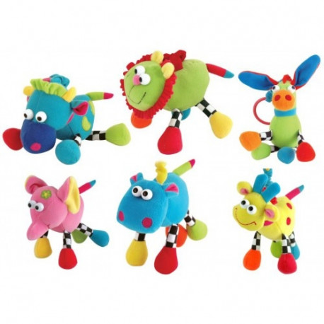 Soft velour toy BALL WITH RATTLE light Canpol babies