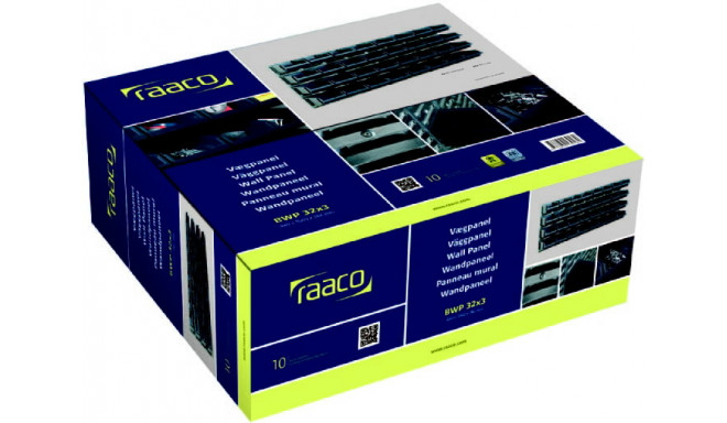 32 sortimendisahtlit seinapaneelidel, Raaco