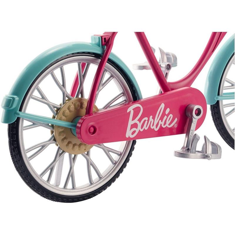 DVX55 flowers and helmet Barbie Bicycle / Bike with basket by Mattel