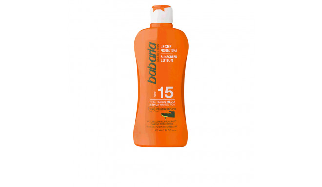 Babaria SOLAR ALOE VERA leche solar SPF15 200 ml