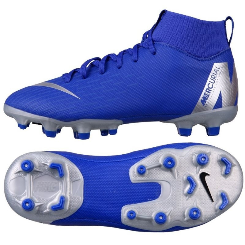 best sneakers 6b30f 7102f Kids grass football shoes Nike Mercurial Superfly 6 Academy MG Jr AH7337-400