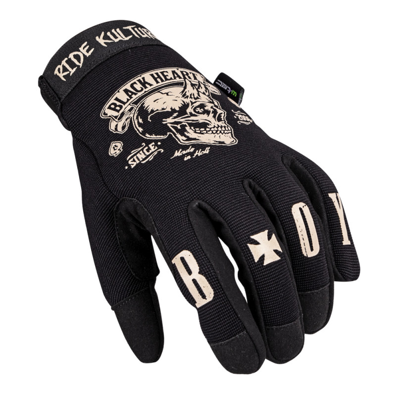 Mens moto gloves W-TEC Heart Rioter black