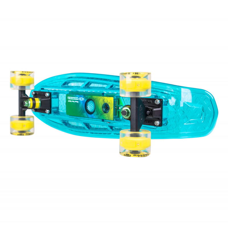 "Light-Up Penny Board WORKER Ravery 22"" with Bluetooth Speaker"