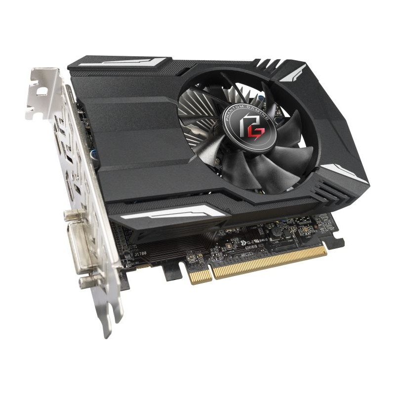 ASRock graphics card Radeon RX550 Phantom Gaming 2G 2GB HDMI DP DVI