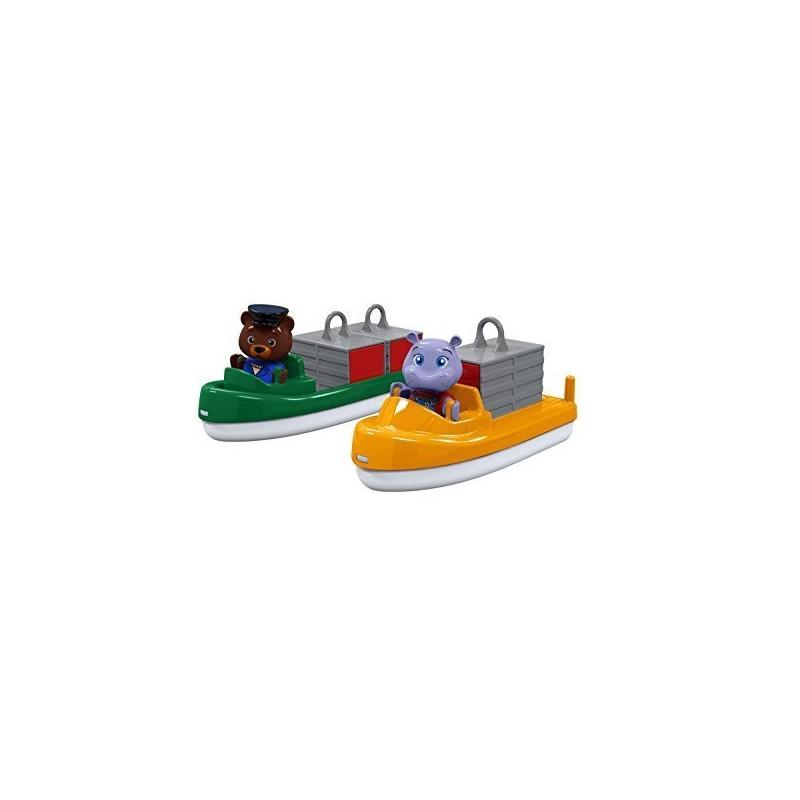 AquaPlay 227 Schlepper und Kahn mit 2 Puppen