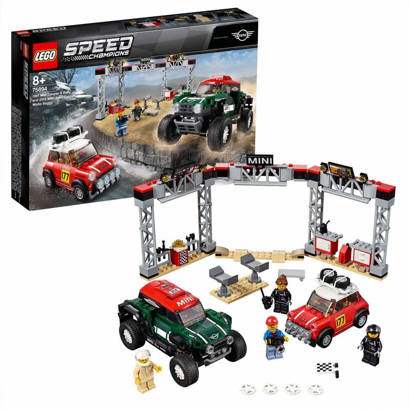 Lego Bricks Rallyeauto 1967 Mini Cooper S Und Buggy 2018 Mini John