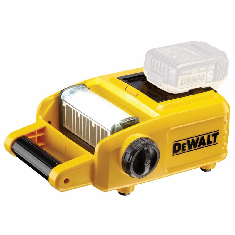 DeWalt cordless construction site spotlight DCL060, LED light