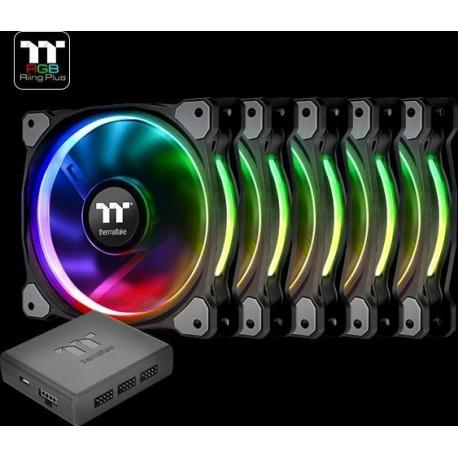 a9f8694c8cf Thermaltake Riing Plus 14 LED RGB Radiator Fan TT Premium - 5x Fan 1x  Controller