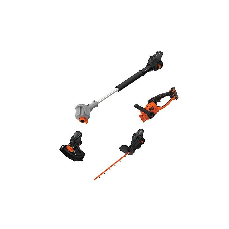 Black+Decker 3-in-1 cordless hedge. BCASK891D-QW - 18 V / 2.0 Ah Li-Ion, 45 cm blade length