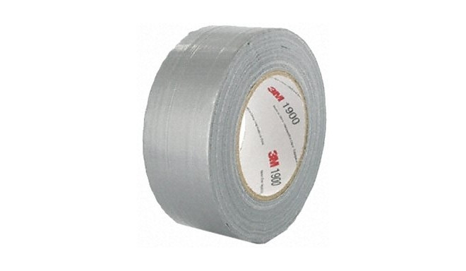 3M™ 1900 Silver Duct Tape, 50m x 50mm x 0.17mm