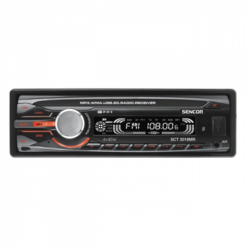 Car radio + remote controler SCT 3018MR USB SD MMC