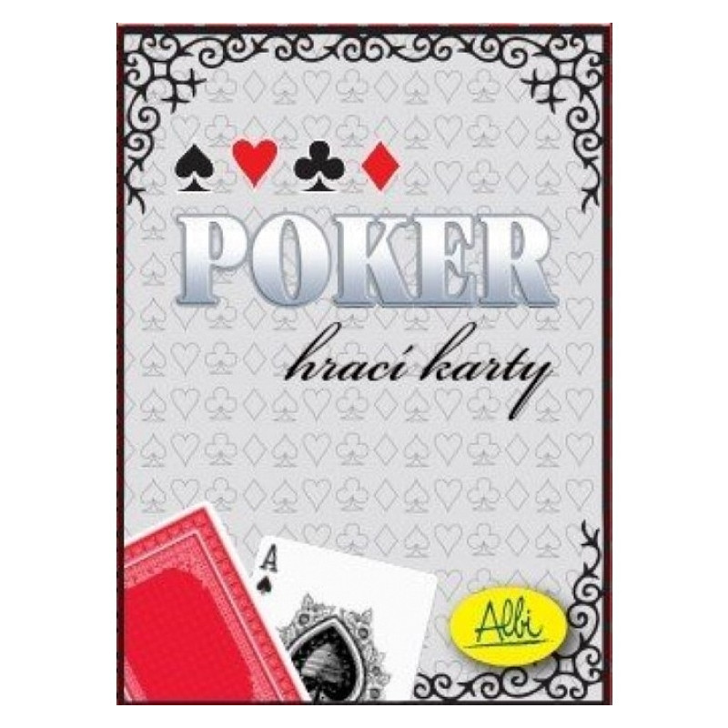 Poker cards red
