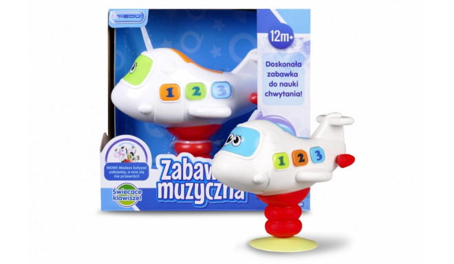 A musical plane on the suction cup