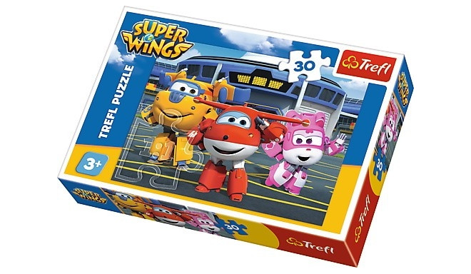 Trefl puzzle Friends in front of the Hangar Super Wings 30pcs
