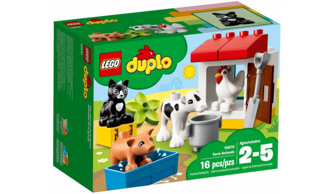 Lego mänguklotsid Duplo Farm Animals