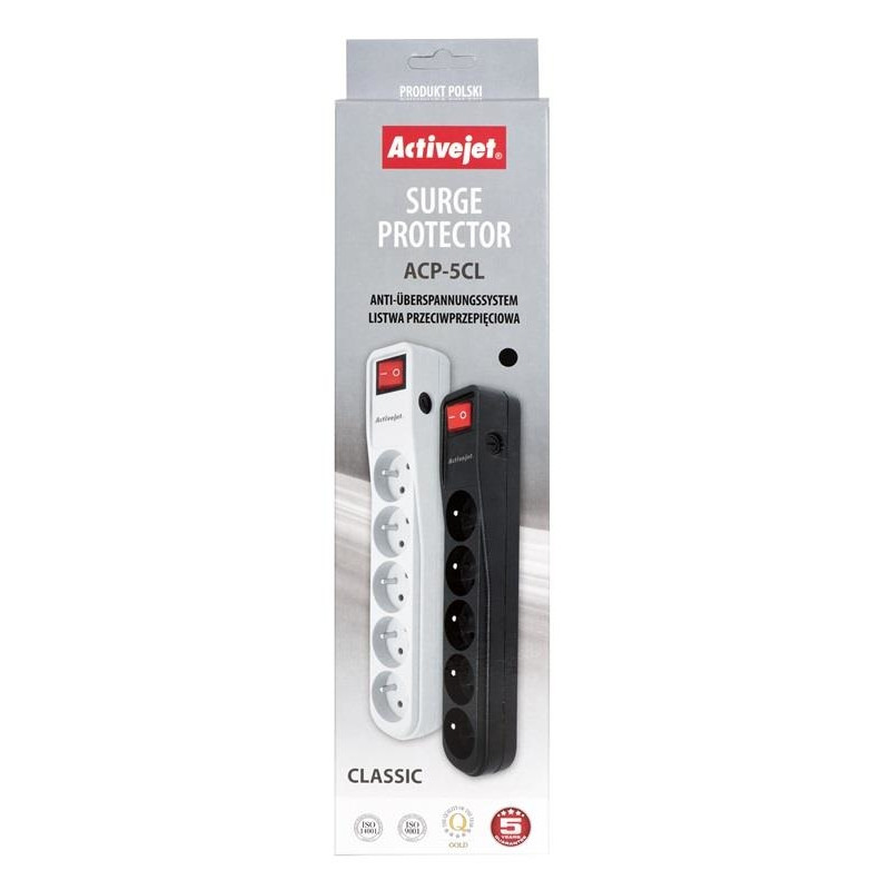 Bar Activejet APN-5g/5m-GR (5 x UTE; 10 A; 5 m; white color)