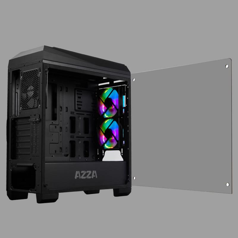AZZA Chroma 410B Side window, Black, ATX, Pow