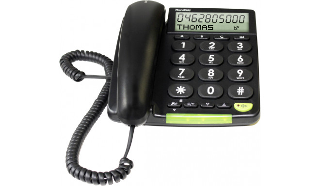 Doro desk phone PhoneEasy 312cs, black