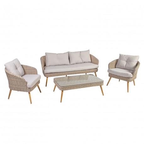 f95987f9ff9 Aiamööbli komplekt NORWAY laud, diivan ja 2 tooli, lauaplaat: klaas,  alumiiniumraam,