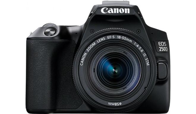 Canon EOS 250D + 18-55мм IS STM Kit, черный