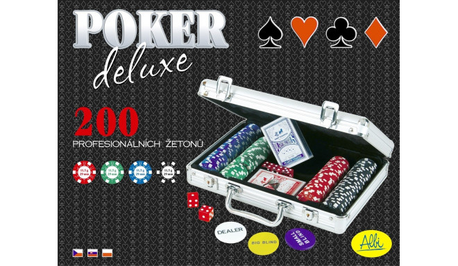Albi pokkerikomplekt Deluxe 200