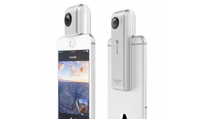 360º Nutitelefoni Kaamera Insta360 Micro SD iOS 8+ Hõbedane