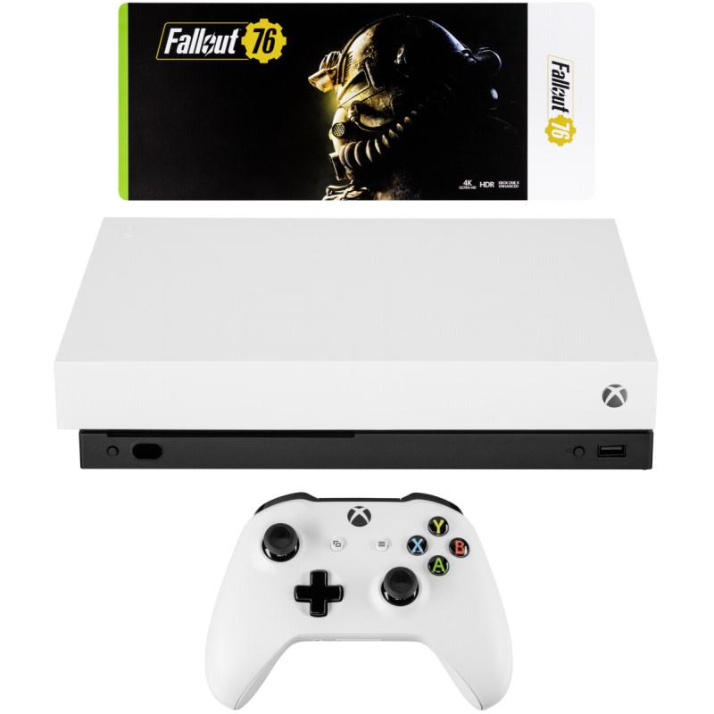 Microsoft Xbox One X, white + Fallout 76 USK 18