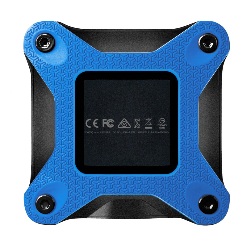 ADATA External SSD SD600Q 480 GB, USB 3.1, Bl