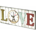 Platinet wall clock Love (43817)