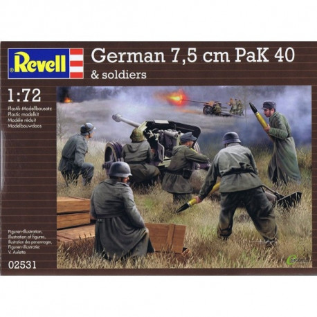 c038d4e1984 Revell mudelikomplekt German pak 40 with soldiers