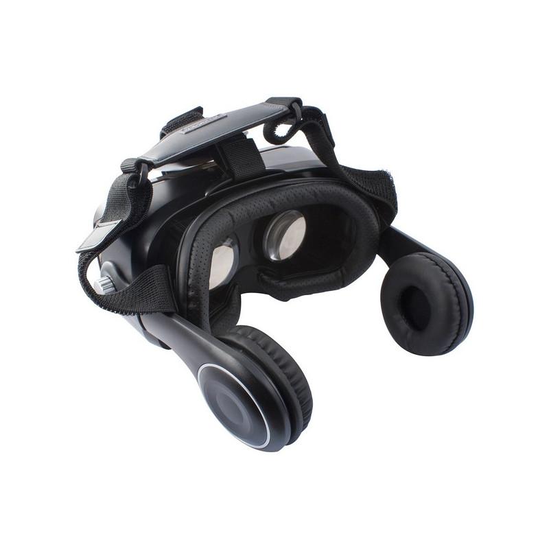 Virtuaalreaalsuse Prillid Kõrvaklappidega Must