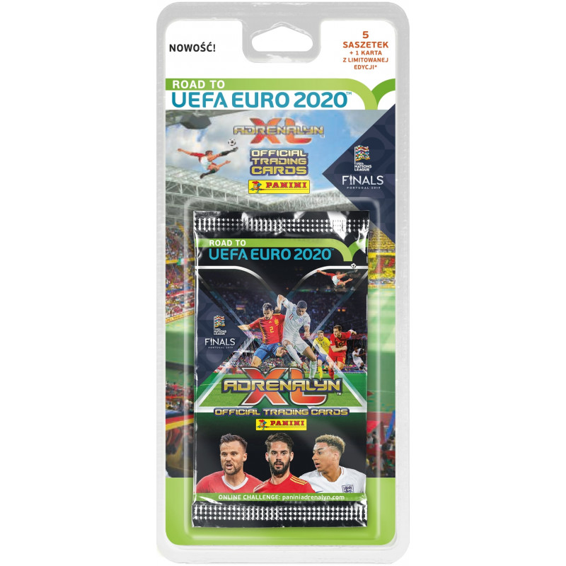 Panini football cards UEFA Euro 2020 Blister 5+1pcs
