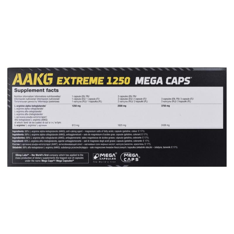 aa506450598 Olimp AAKG Mega Caps 1250 (120kaps) - Food supplements - Photopoint