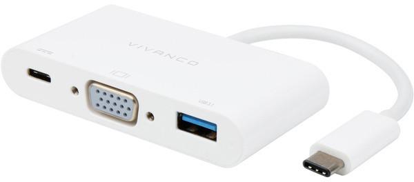 Vivanco adapter USB-C - VGA 3in1 (45386)