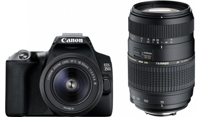 Canon EOS 250D + 18-55mm DC + Tamron 70-300mm Di