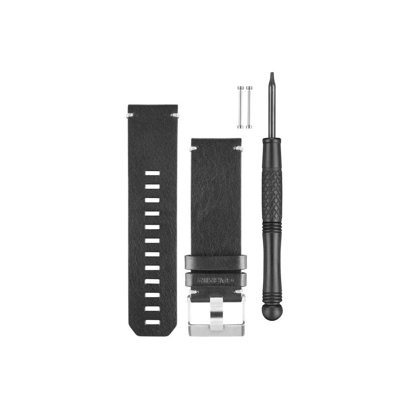 quatix 3 Black Leather Strap