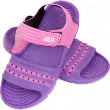 5dbb37f590f Laste sandaalid Aqua-speed Noli lilla/roosa