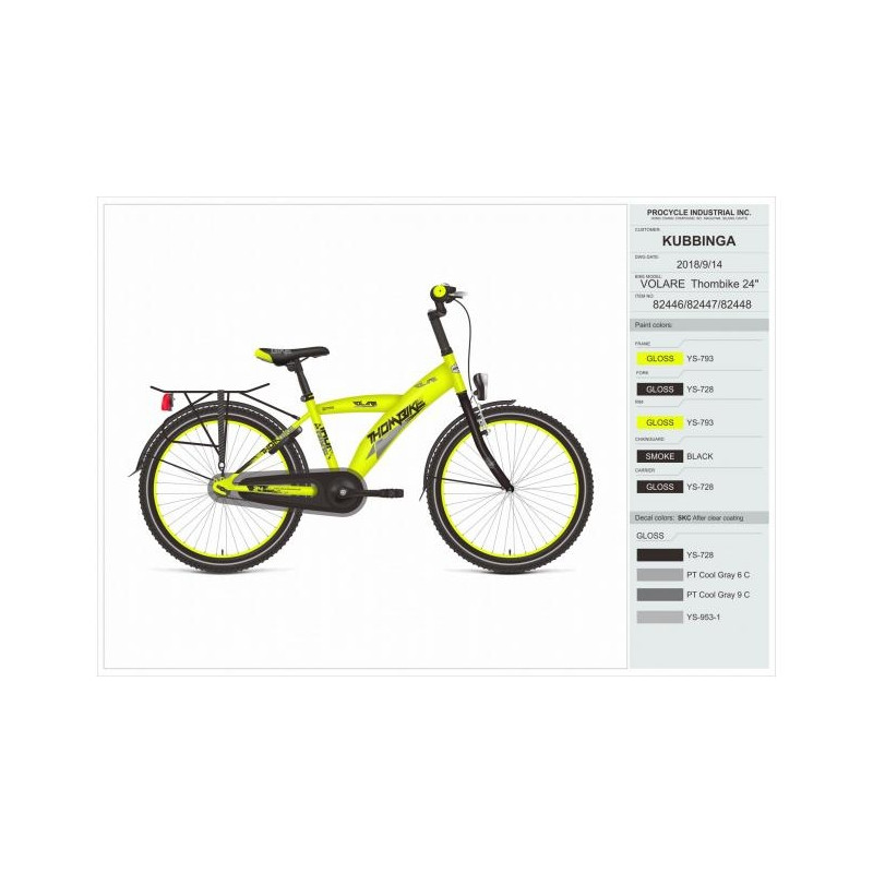 f21ae711d53 Poiste jalgratas Thombike City 24 tolli Volare - Lasterattad ...