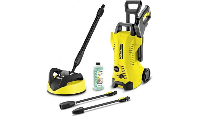 Karcher K3 Full Control Home T350, pressure washers(yellow / black, and with a coarse dirt. Surface