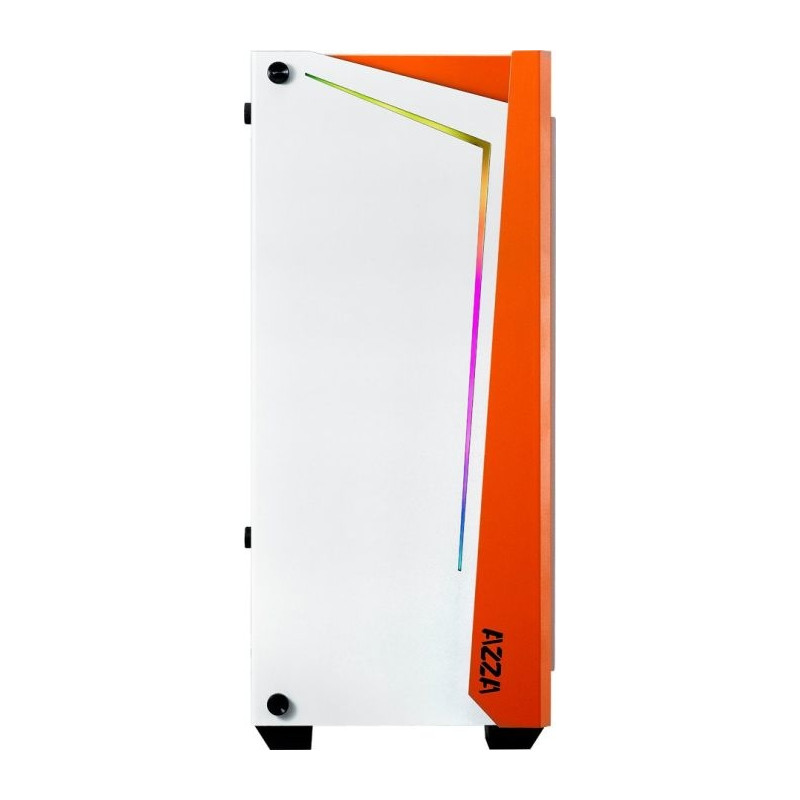AZZA Apollo 430W-DF2, tower case (white / orange, Tempered Glass)