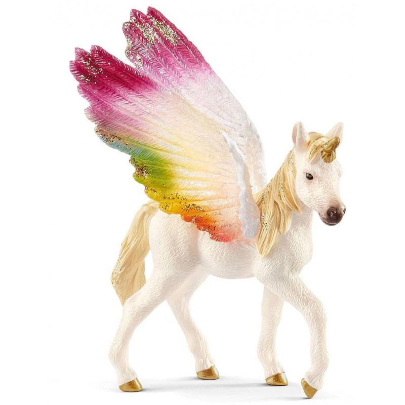 Schleich toy figure Rainbow Unicorn foal (70577)