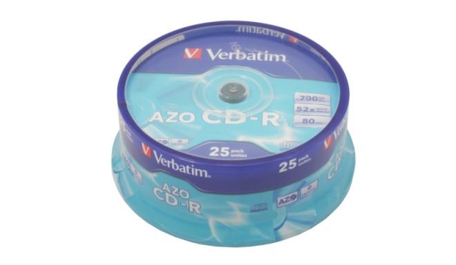CDR VERBATIM 700MB AZO (CAKE 25) (DAMAGED PACKAKING)