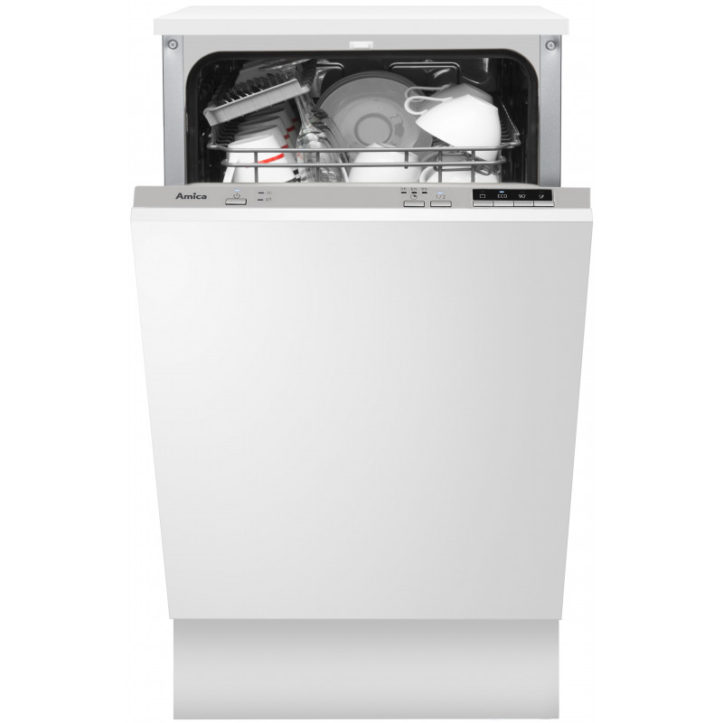 Dishwasher for installation Amica DIM 404H (448 mm; Integrated (covered); silver color)