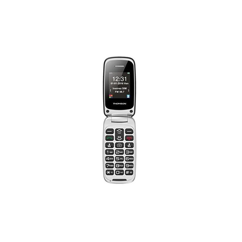 """Mobile telephone for older adults Thomson Serea 63 2.4"""" Bluetooth Red"""