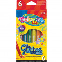 COLORINO CREATIVE Glitter markerid, 6 värvi, 65641PTR