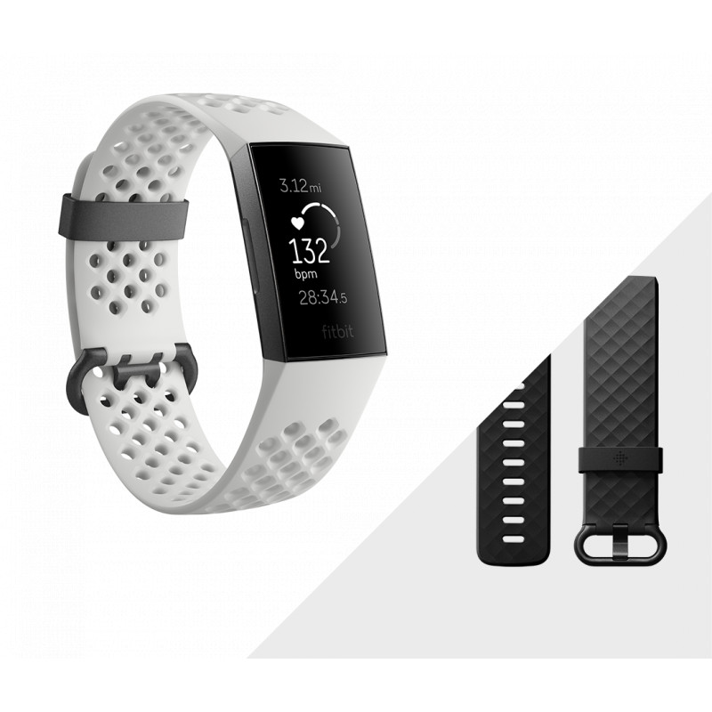 Fitbit activity tracker Charge 3 Special Edition, graphite/frost white